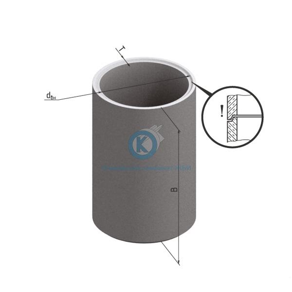 Кольцо бетонное для колодца с днищем КЦД-10-10чс