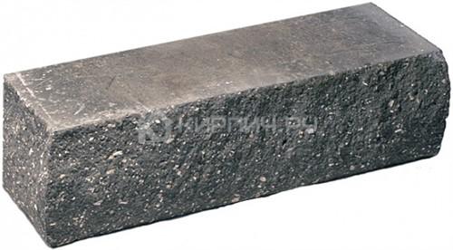 Кирпич гиперпрессованный брусок М-250 черный рустированный угол
