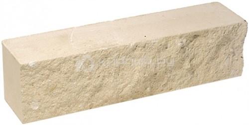 Кирпич гиперпрессованный брусок М-250 слоновая кость рустированный ложок