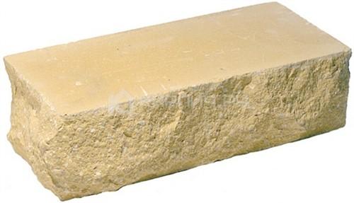 Кирпич гиперпрессованный брусок М-250 солома рустированный угол