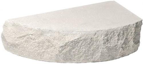 Купить Кирпич одинарный М-250 белый ПОЛУКРУГ рустированный ложок дешевле
