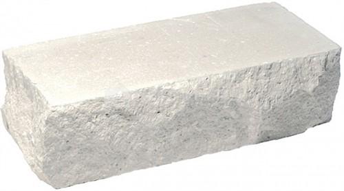 Кирпич одинарный М-250 белый рустированный угол