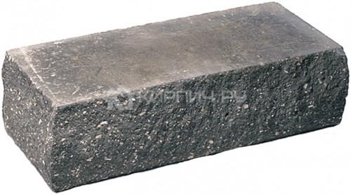 Кирпич одинарный М-250 черный рустированный угол