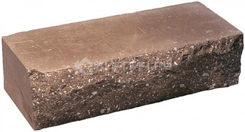 Кирпич одинарный М-250 коричневый рустированный ложок
