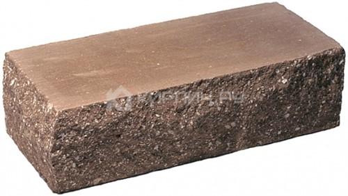 Кирпич гиперпрессованный одинарный М-250 коричневый рустированный угол