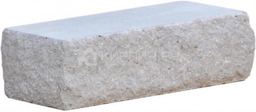 Кирпич гиперпрессованный одинарный М-250 серый рустированный угол