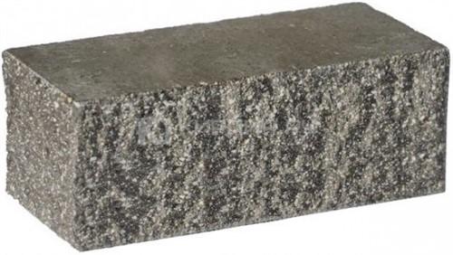 Кирпич полуторный М-250 черный рустированный угол