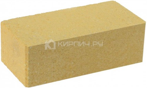 Кирпич полуторный М-250 желтый гладкий