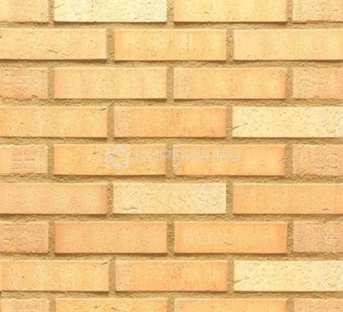 Кирпич клинкерный Feldhaus Klinker Vascu crema wasserstrich K730NF рельефный 240х115х71