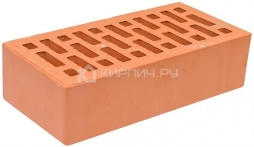 Кирпич для фасада абрикос одинарный гладкий М-150 НЗКМ