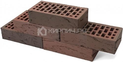 Купить Кирпич М-150 баварская кладка Бордо одинарный кора дуба Браер дешевле