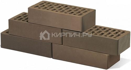 Купить Кирпич баварская кладка Мокко одинарный гладкий М-150 Браер дешевле