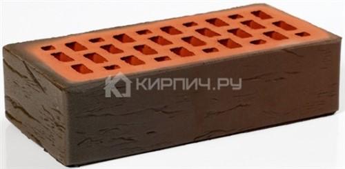 Кирпич для фасада баварская кладка темный одинарный руст М-200 Пятый Элемент