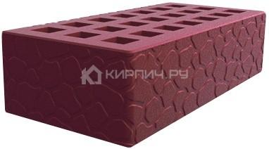 Кирпич одинарный бордо черепаха М-150 Саранск