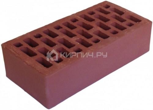 Кирпич Браер бордо одинарный гладкий М-150