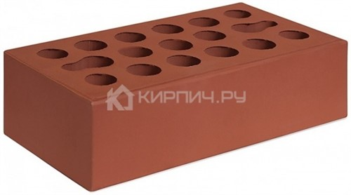 Кирпич для фасада бордо одинарный гладкий М-150 Керма
