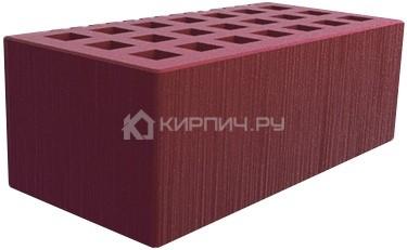 Кирпич для фасада бордо полуторный шероховатый М-150 Саранск