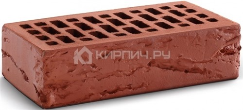 Кирпич для фасада гляссе одинарный кора дерева М-150 КС-Керамик