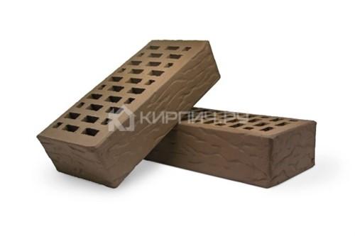 Кирпич для фасада какао одинарный рустик М-150 Терекс