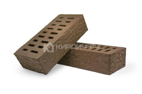 Кирпич для фасада какао одинарный рустик с песком М-175 Терекс