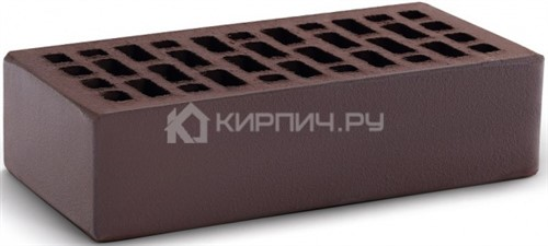 Кирпич облицовочный камелот темный шоколад одинарный гладкий М-150 КС-Керамик
