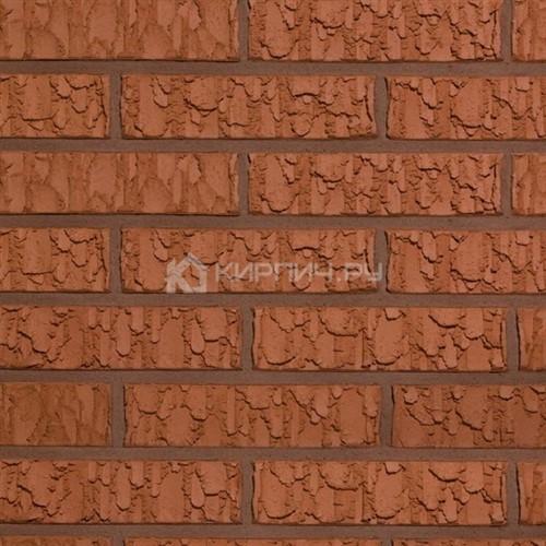 Кирпич Terca RED VULCANO рельефный щелевой 250х85х65