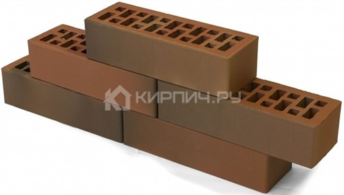 Кирпич для фасада коричневый евро гладкий М-150