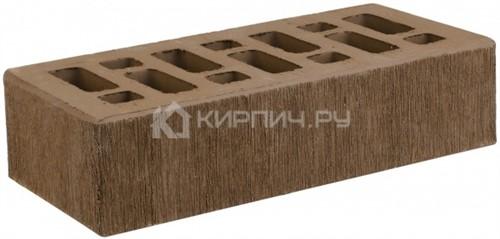 Кирпич облицовочный коричневый одинарный бархат М-150 СтОскол
