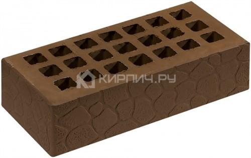 Кирпич СЗЛК (Саранск) коричневый одинарный черепаха М-150