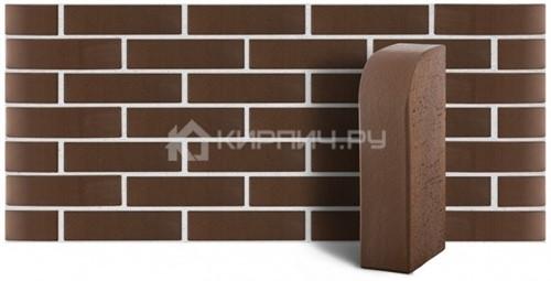 Купить Кирпич облицовочный коричневый гладкий полнотелый угловой R-60 М-400 ЛСР дешевле