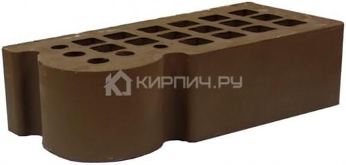 Кирпич для фасада коричневый одинарный КФ-3 гладкий М-175 ЖКЗ