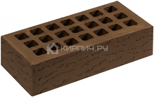 Кирпич одинарный коричневый кора дуба М-150 Саранск