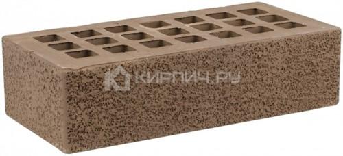 Кирпич облицовочный коричневый одинарный пена М-175 ЖКЗ