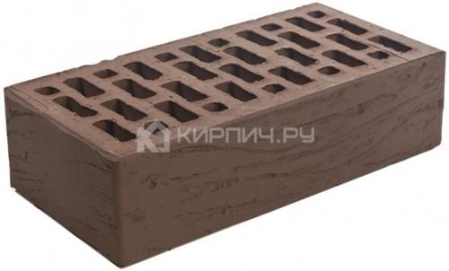 Кирпич одинарный коричневый риф М-150 Браер
