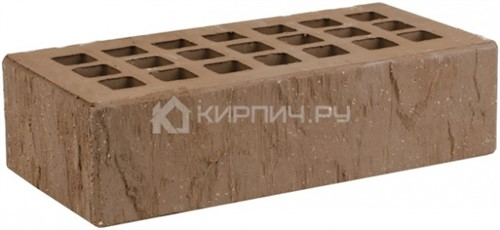 Кирпич облицовочный коричневый одинарный скала торкрет М-175 ЖКЗ