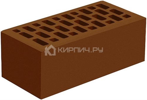 Кирпич для фасада коричневый полуторный гладкий М-175 Голицыно