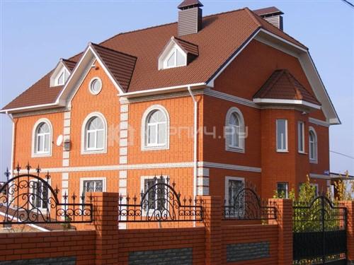 Кирпич для фасада красный евро бархат М-175 ЖКЗ