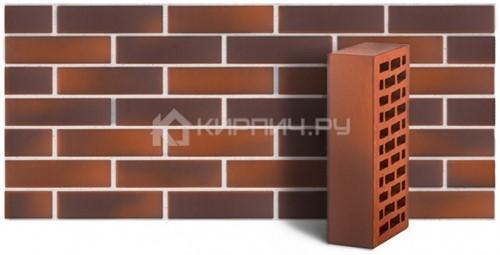 Кирпич для фасада красный флэш одинарный гладкий М-150 ЛСР