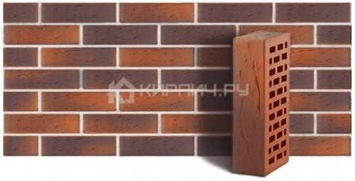Кирпич для фасада красный флэш одинарный рустик М-150 ЛСР