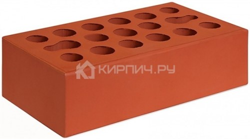 Кирпич для фасада красный одинарный гладкий М-150 Керма