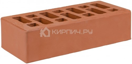 Кирпич одинарный красный гладкий М-150 СтОскол
