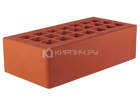 Кирпич для фасада красный одинарный гладкий М-175 ЖКЗ