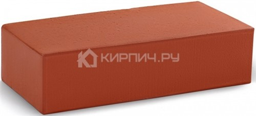 Кирпич облицовочный красный гладкий полнотелый М-300 КС-Керамик