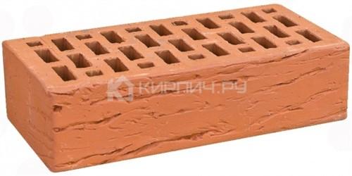 Кирпич облицовочный красный одинарный риф М-150