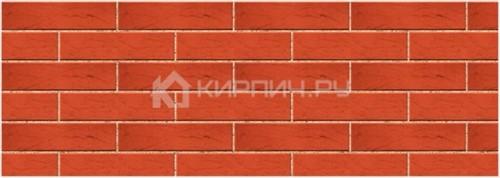 Кирпич одинарный красный рустик М-150 Керма