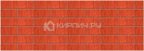 Кирпич облицовочный красный полуторный бархат М-150 Керма