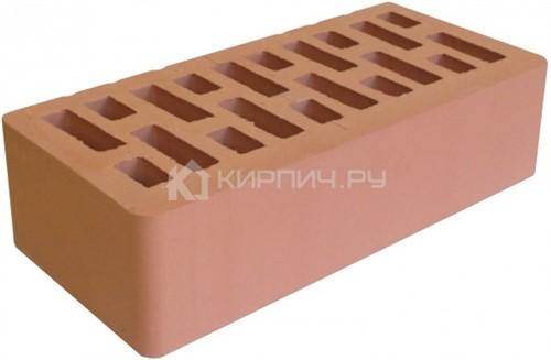 Кирпич для фасада персик одинарный гладкий М-200 Липецк