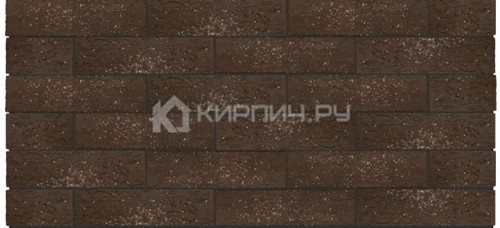 Кирпич Керма Premium Brown granite одинарный кора дуба орех М-175