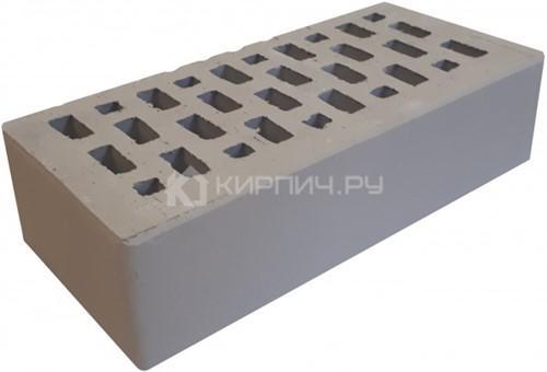 Кирпич для фасада серый одинарный гладкий М-150 Терекс