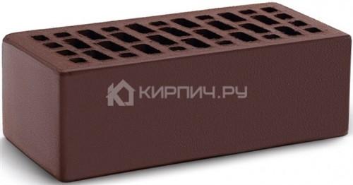 Кирпич для фасада шоколад полуторный гладкий М-150 КС-Керамик